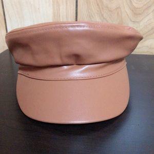 Brown baker boy hat